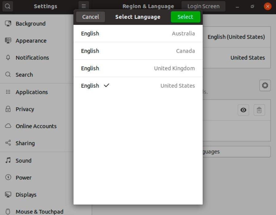 configuración del lenguaje del usuario ubuntu accounts-daemons