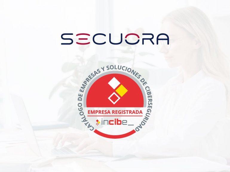 Secuora en el catálogo de empresas y soluciones de ciberseguridad de INCIBE